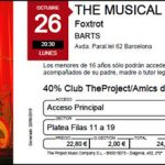 The Musical Box-ticket
