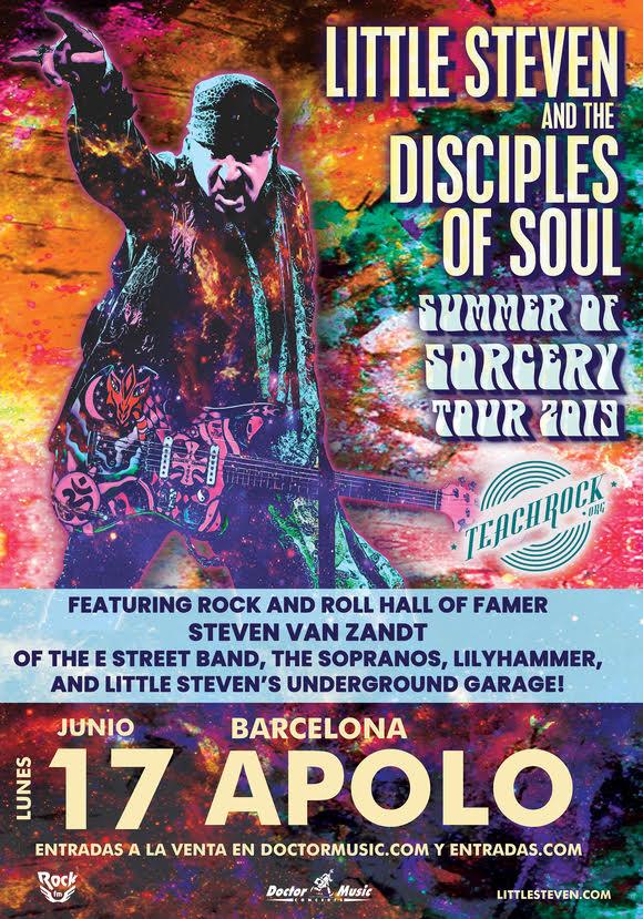 Little Steven & The Disciples of Soul actuaran a Barcelona el 17 de juny