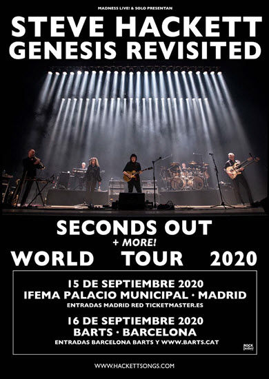 STEVE HACKETT Genesis Revisited a Barcelona el 16/09/2020